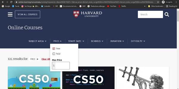 Cursos harvard online