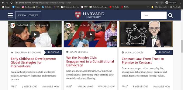 cursos gratis harvard online